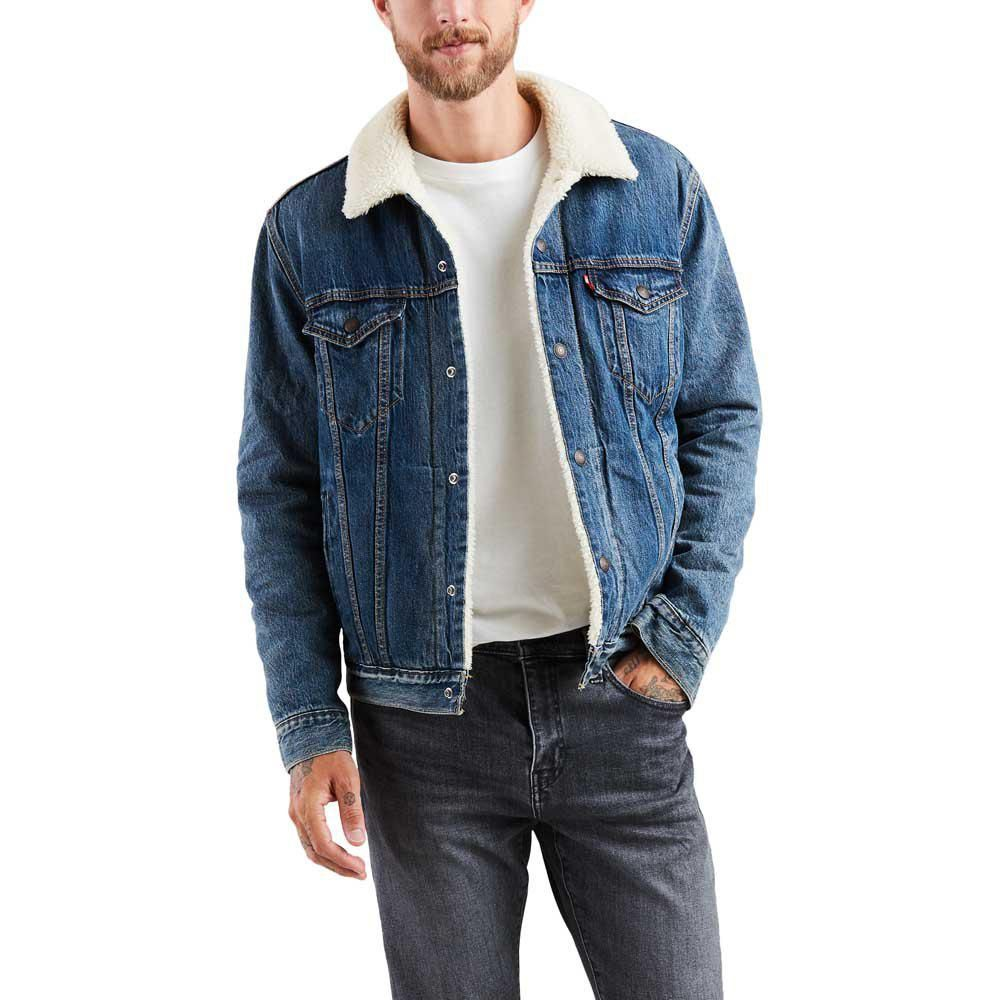Beard and Levis sherpa jacket. Slackerblack. | Estilo