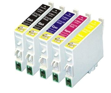 Pack 5 Tinteiros Compatíveis Epson T1281 (2) + T1282 + T1283 + T1284