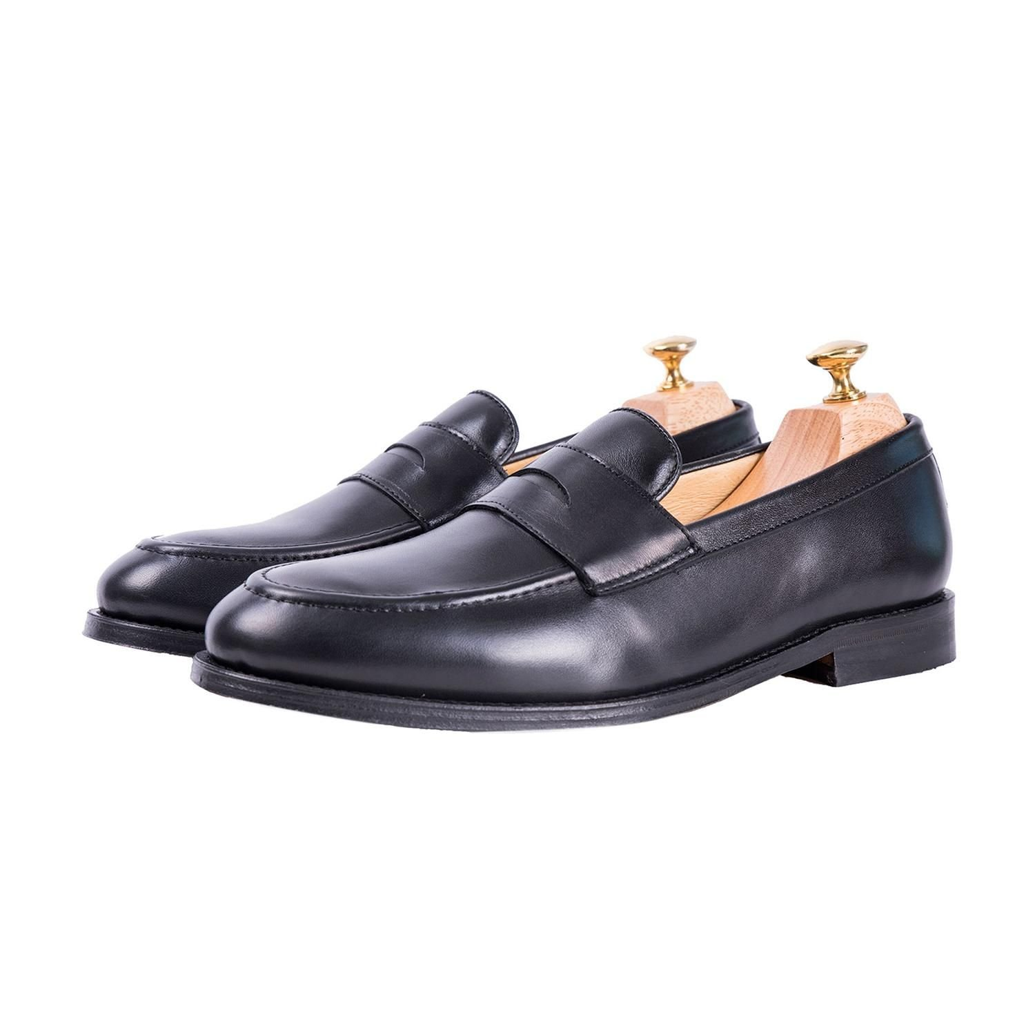 Sapatos Clássicos Glove Loafer Preto John Tweed Tailored