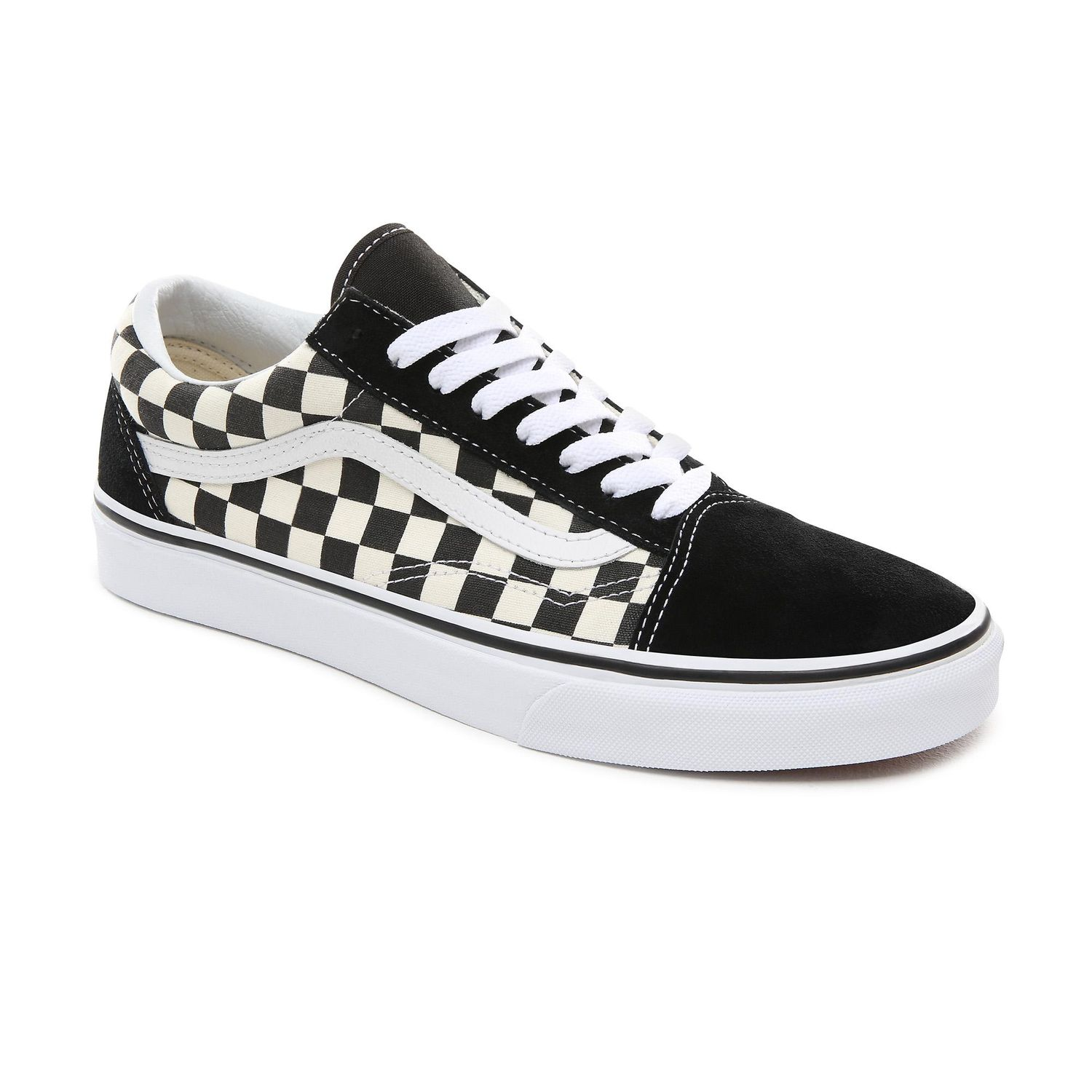 Ténis Vans Ua Old Skool (Primary Check) Blk/White