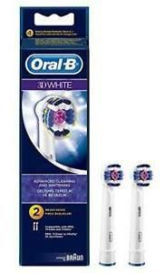 Oral B Replacement head 3D White 2 Uds