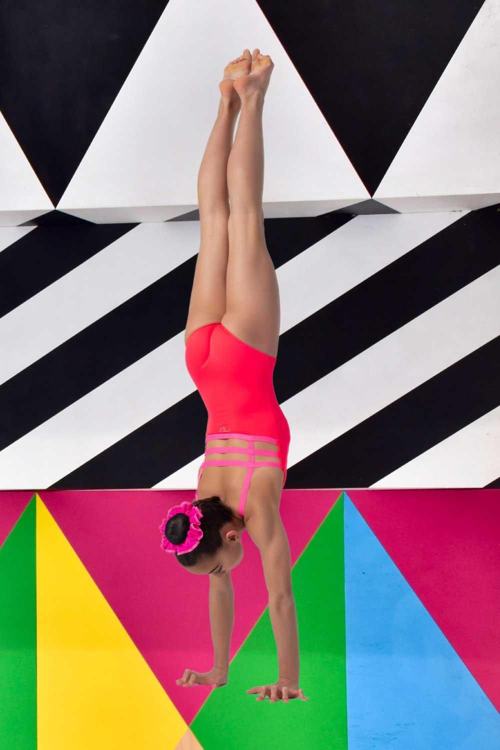 Leotard Fluo Red Step Out Leo