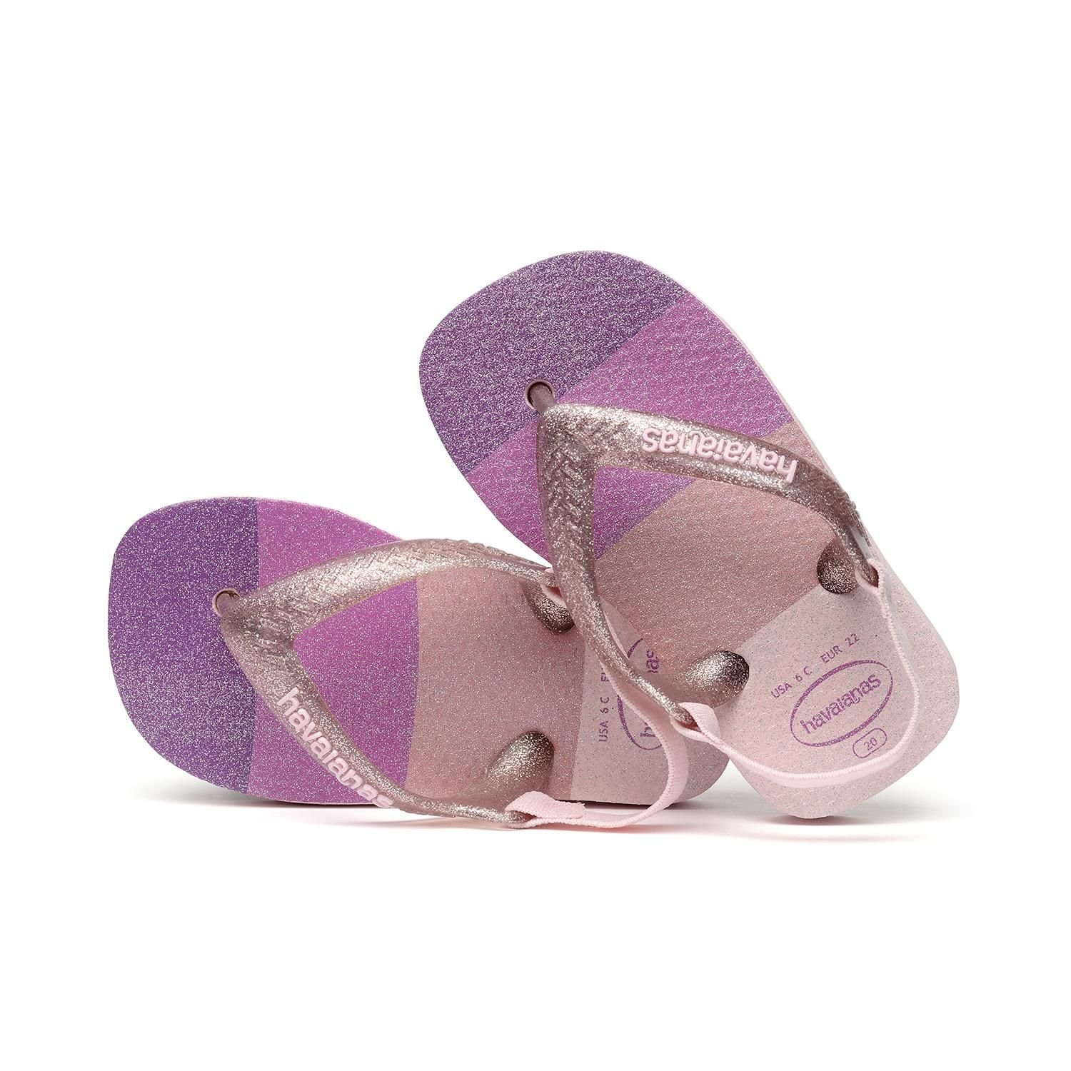 Chinelo Havaiana Baby Palette Glow Candy Pink 25/26