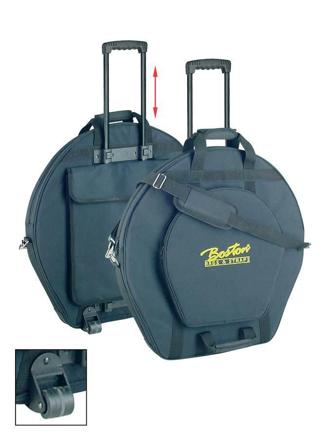 """Boston Deluxe Cymbals Bag 22""""""""+14"""""""" 20 Mm Padded com Wheels And Retractable Ha"""