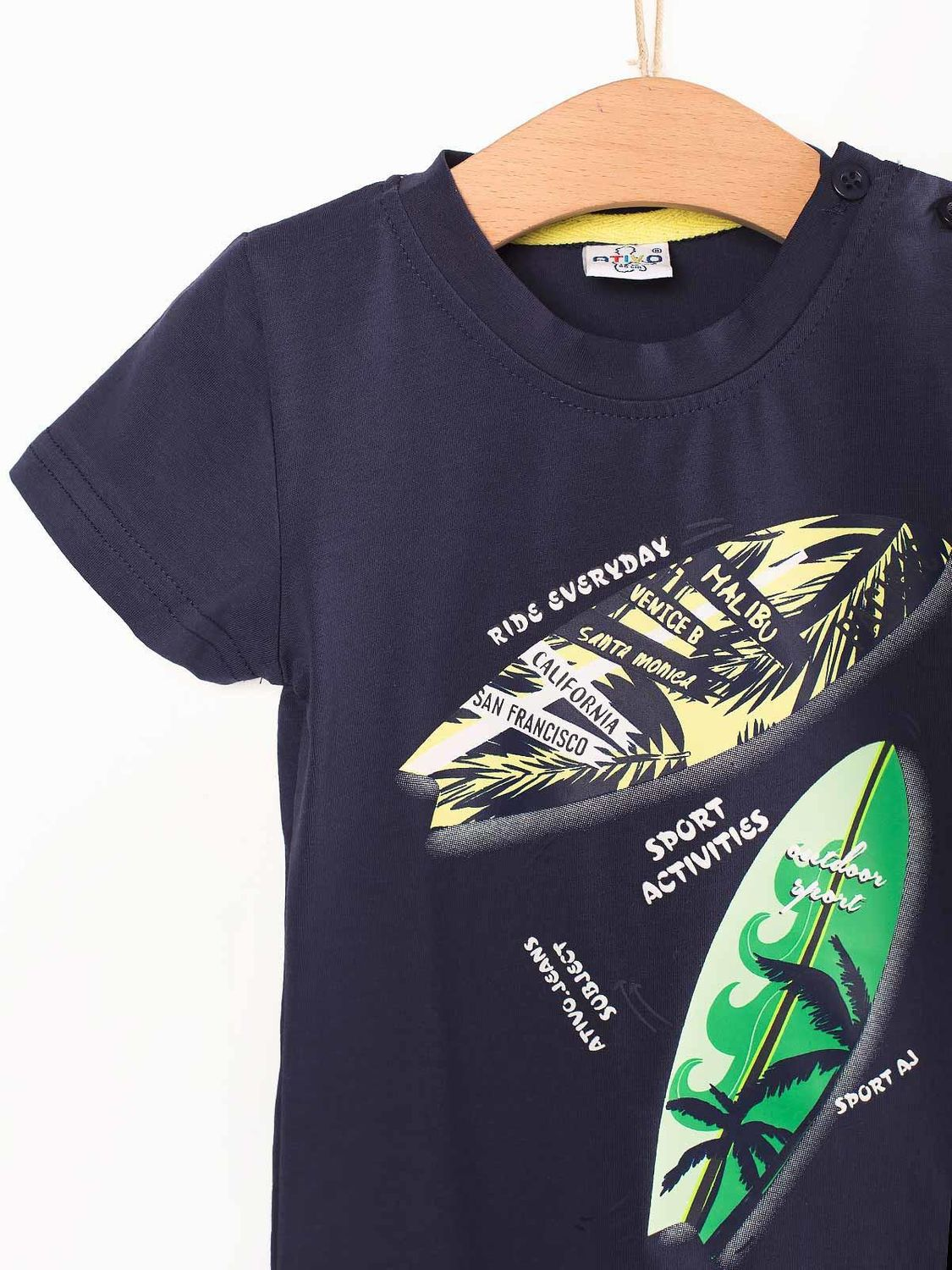 T-Shirt Bebé Estampada Surf