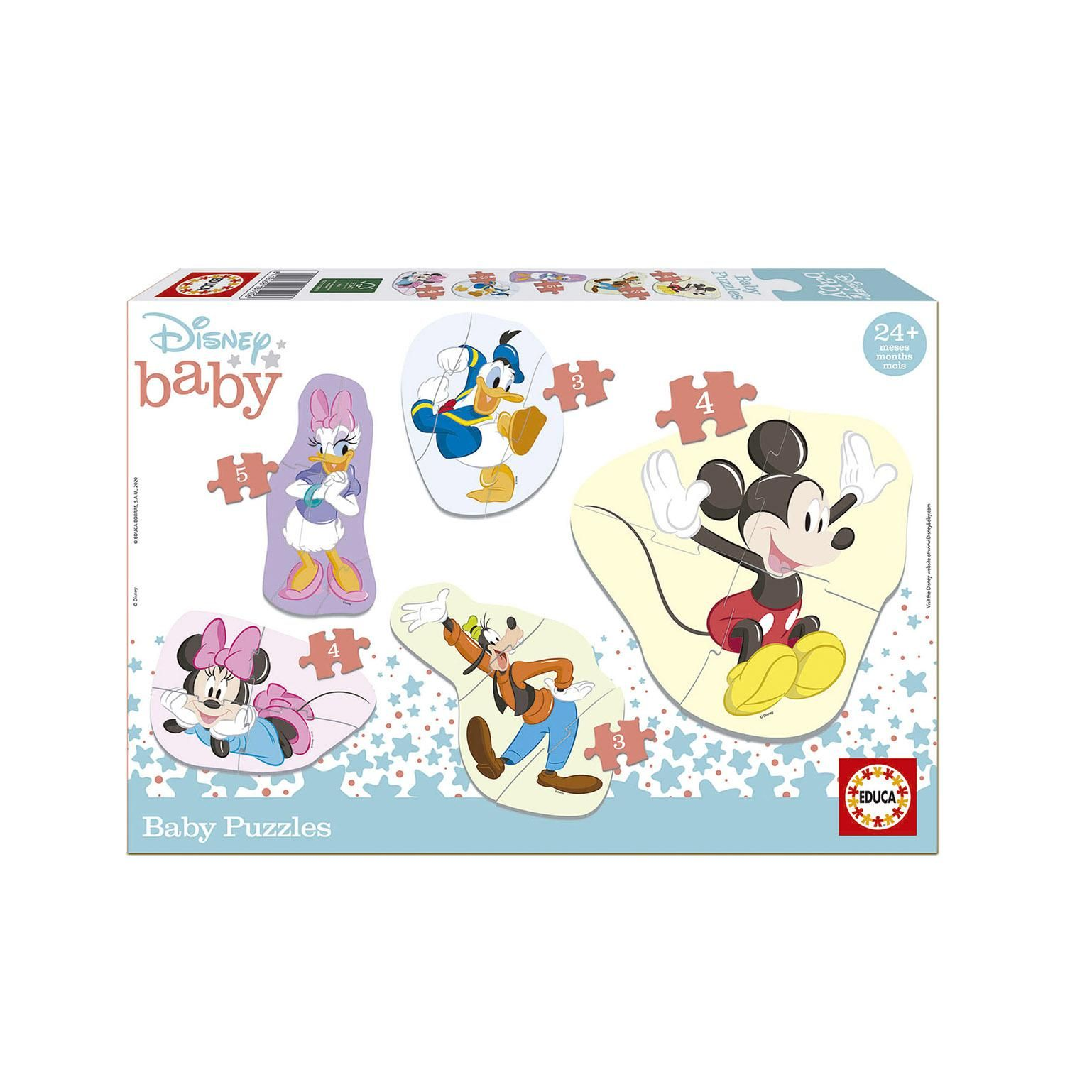 5 Baby Puzzles Mickey & Friends