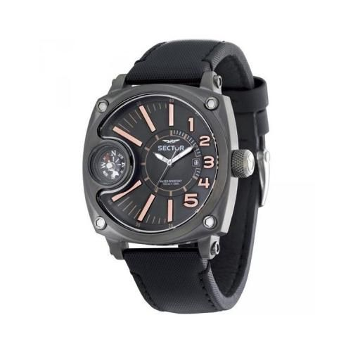Rel. Sector Compass Ii, 3H, Blk&R.Gold Dial, Blk