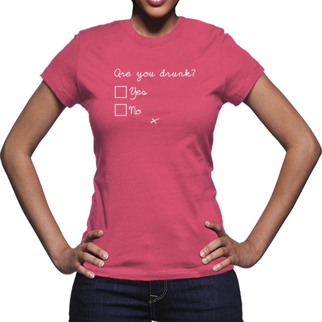 T-Shirt Are You Drunk Rosa