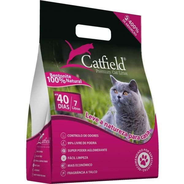 Catfield Premium Cat Litter Pó Talco 7L