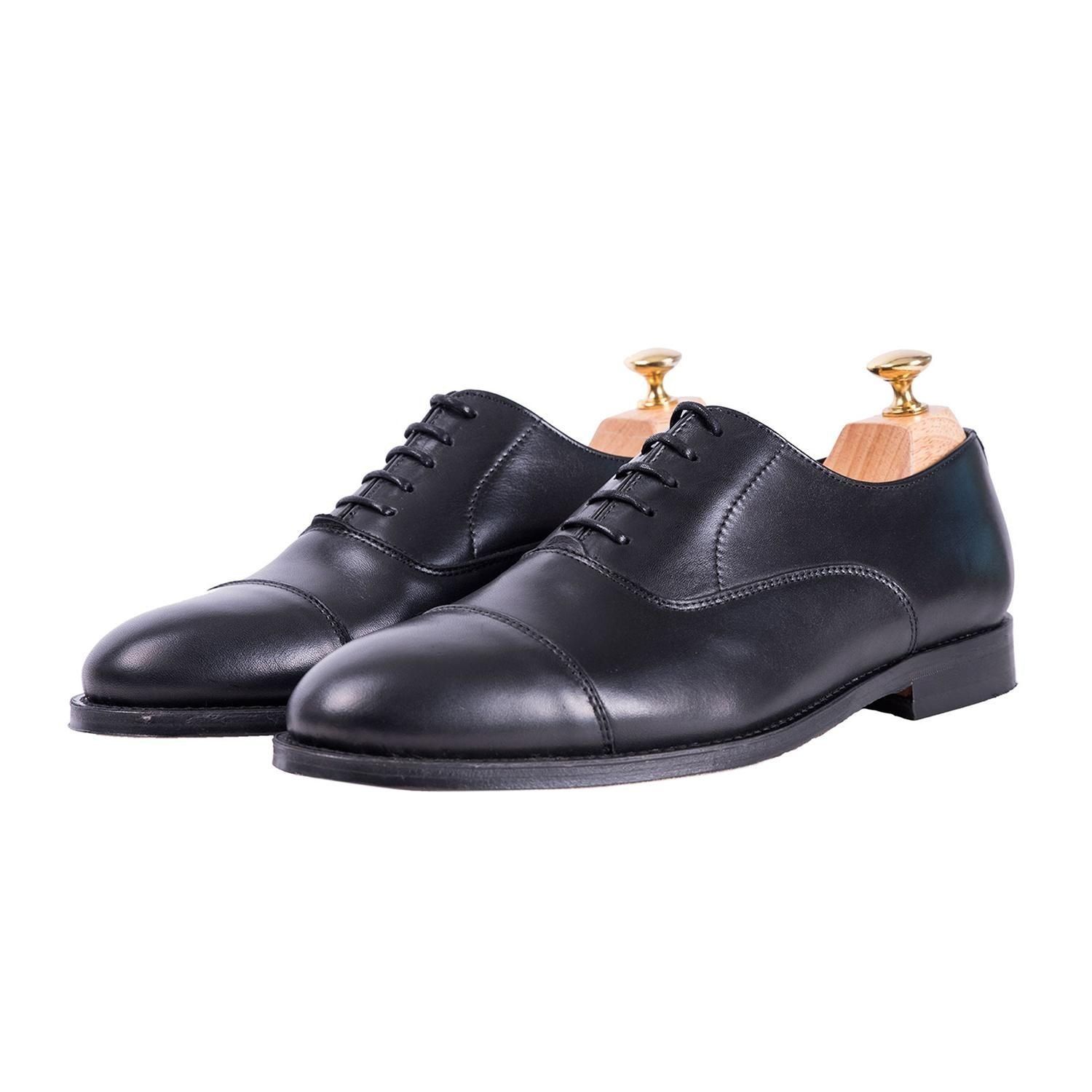 Sapatos Tweed Oxford Preto