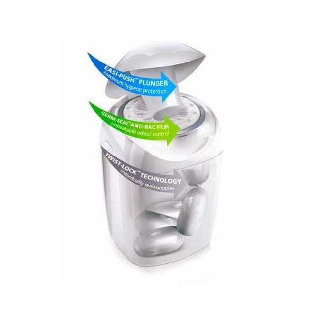 Contentor Fraldas Anti Bacteriano Sangenic Tommee Tippee