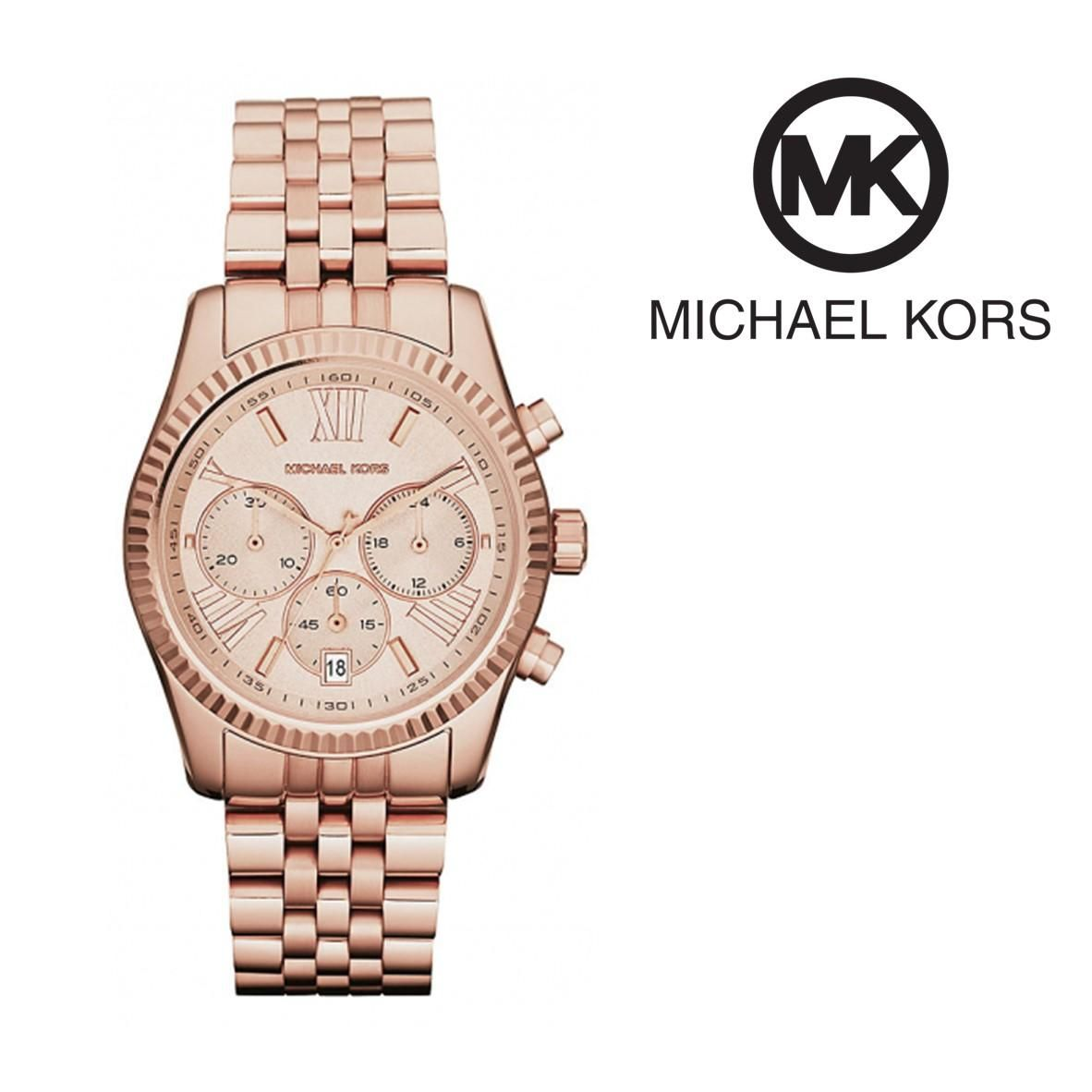 e10465ca2 Relógio Michael Kors Lexington Rose Gold | Cronógrafo | 5ATM | Dott.pt