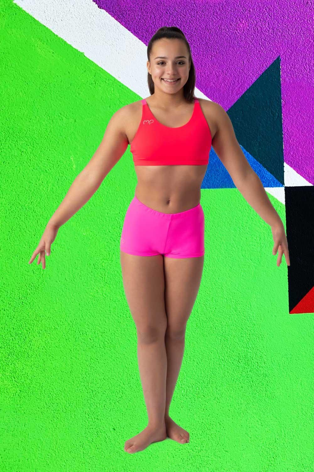 Top Fluo Red Step Out Top