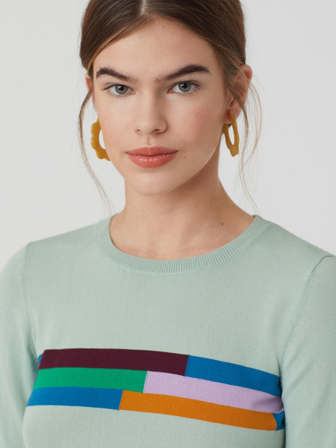 Jumper With Multicoloured Stripes