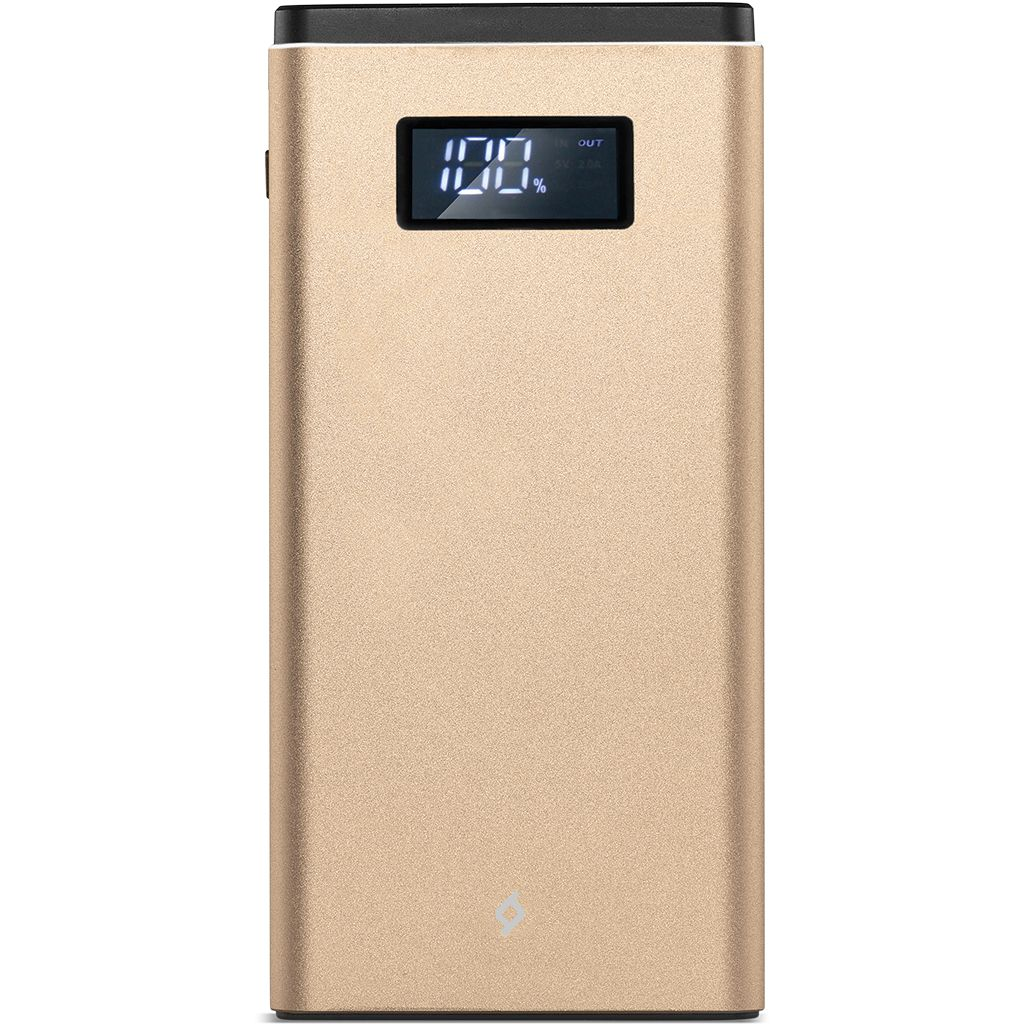 Powerbank Ttec Alumislim Universal Mobile Charger Qc 3.0 10.000Mah With Lcd Gold