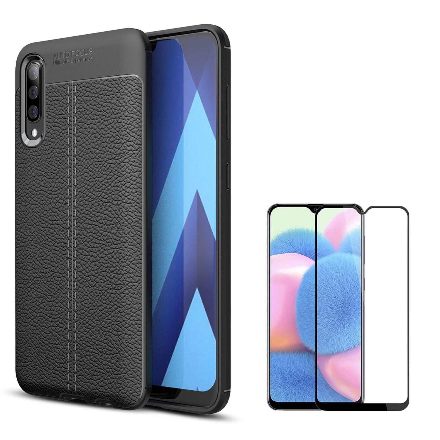 Kit Película Flexguard Full Reaplicável Capa Rugged Leather Samsung A30S