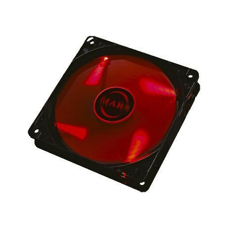 Ventoinha MARS GAMING 12cm Red LED Lighting, 14dB, Anti-vibração - MF12