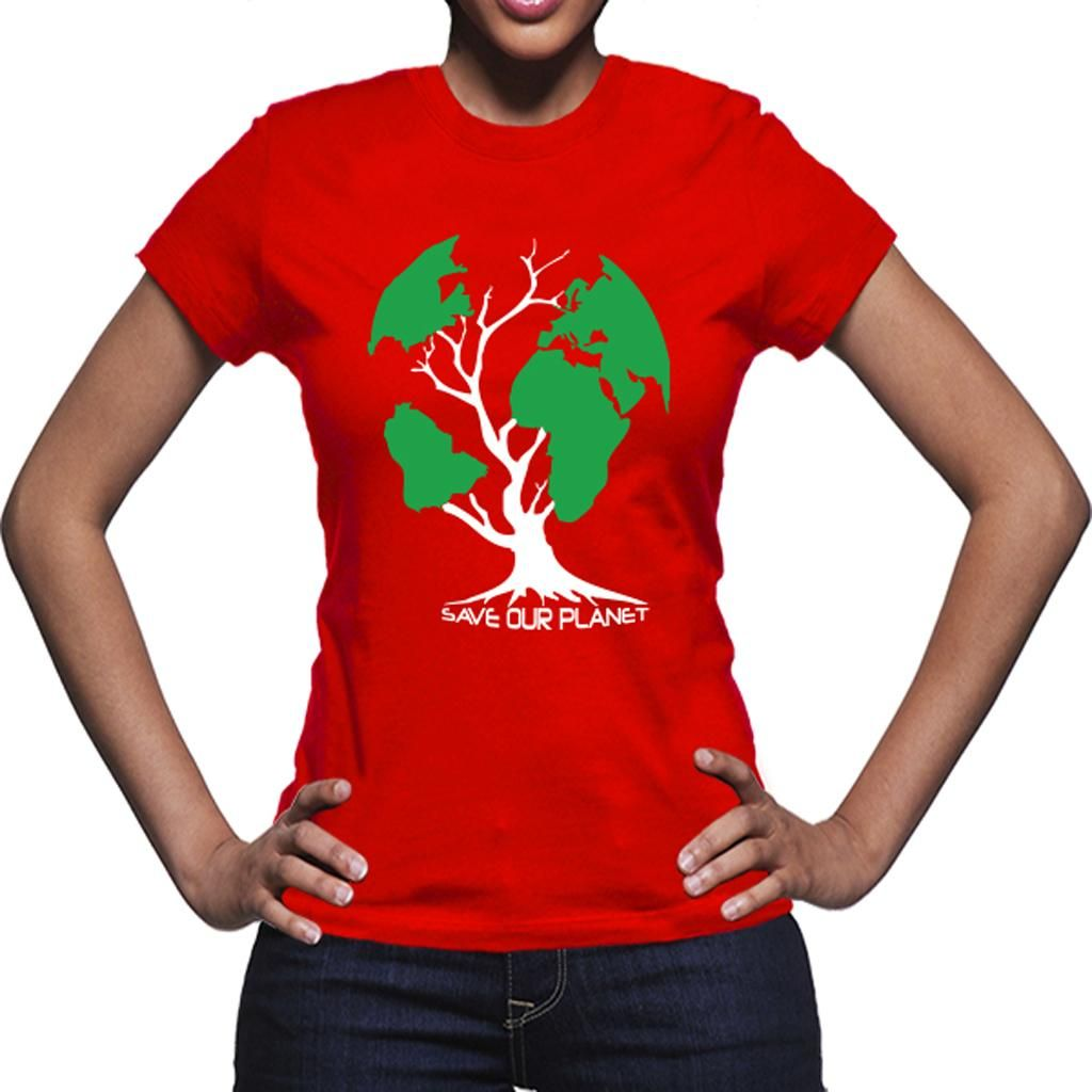 T-Shirt Save our Planet Vermelho