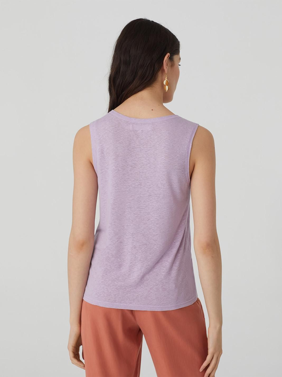 Linen Top With Opening