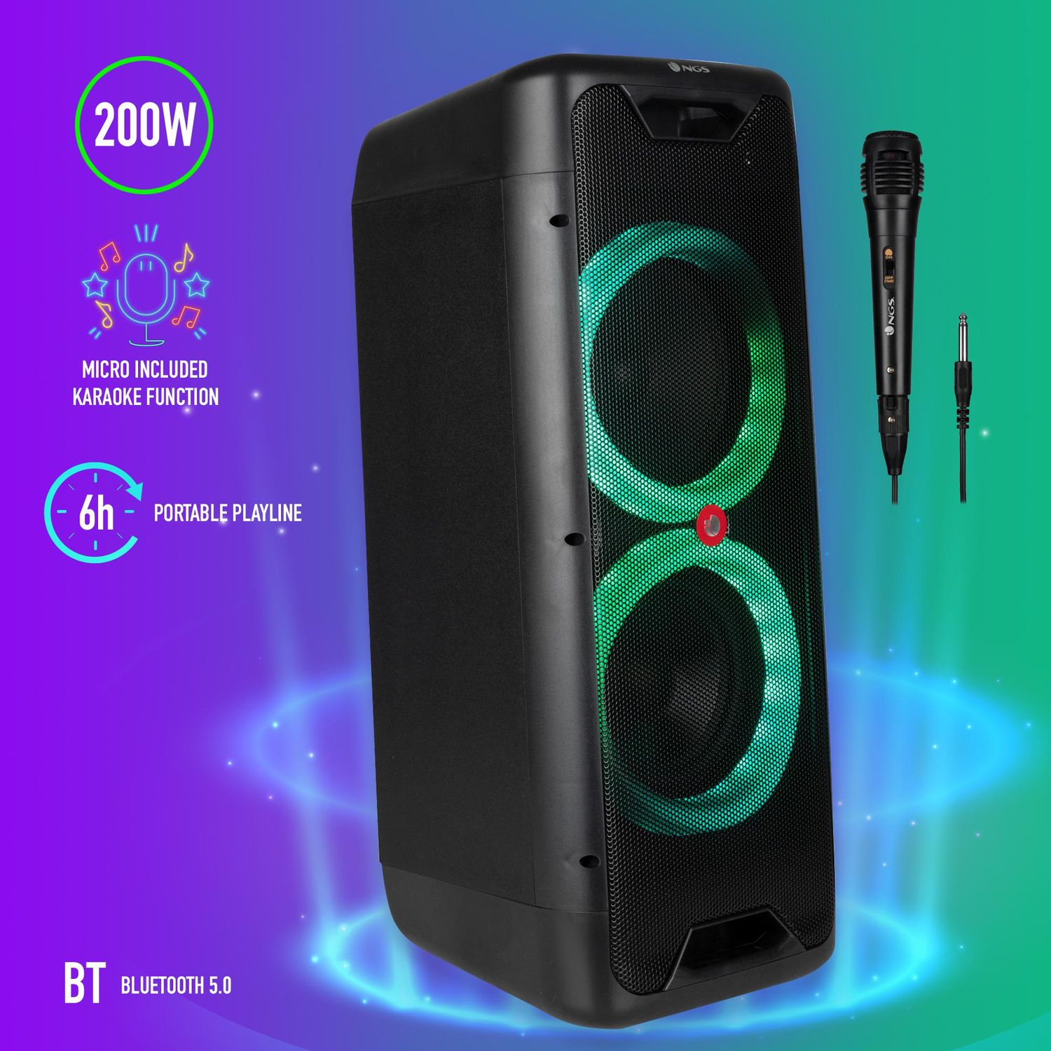 Ngs Coluna Bluetooth Wildjungle1