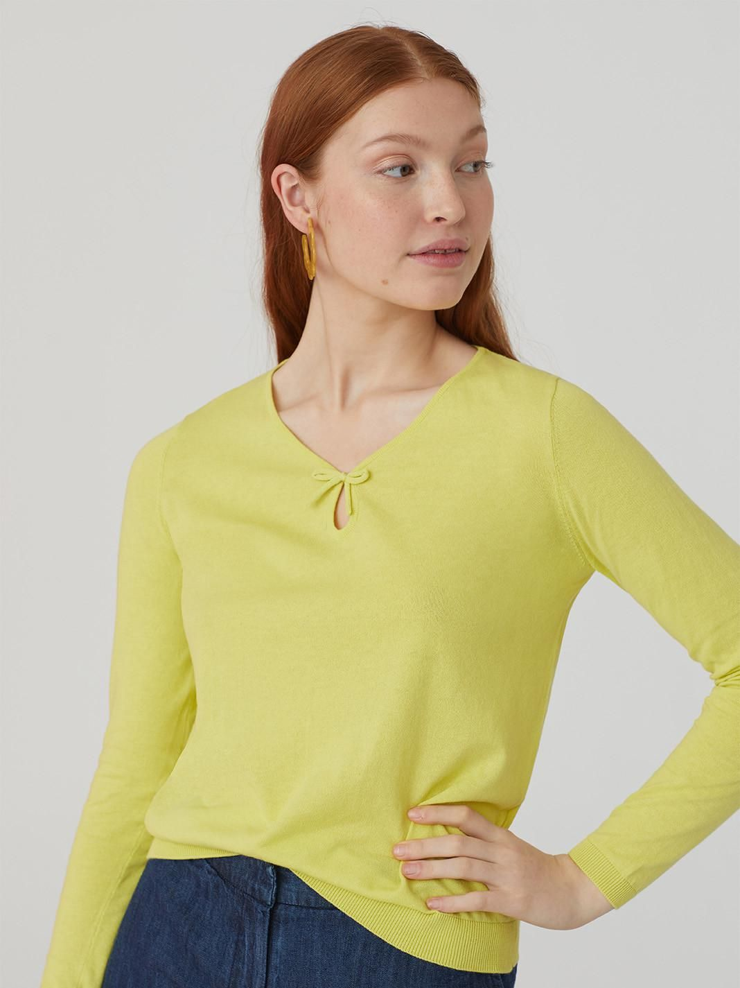 Jumper With Neck Knot Detail