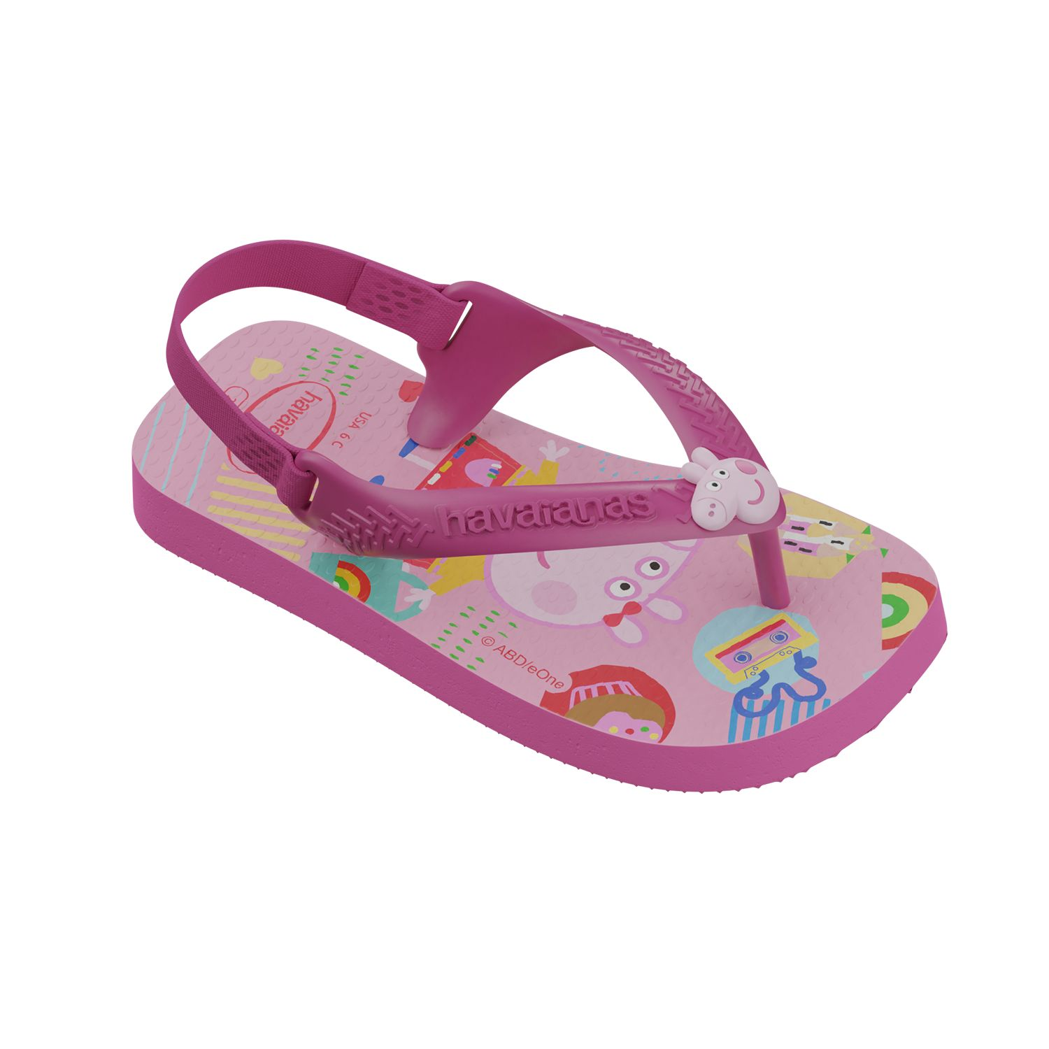Chinelo Havaiana Baby Peppa Pig Pink Flux 25/26