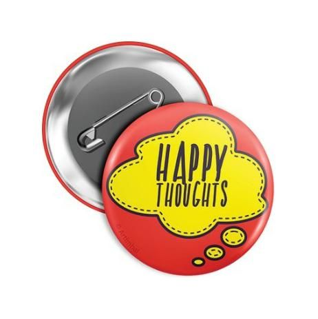 Mitos Pin It Pins Crachá em Blister 4,5 cm Happy Thoughts